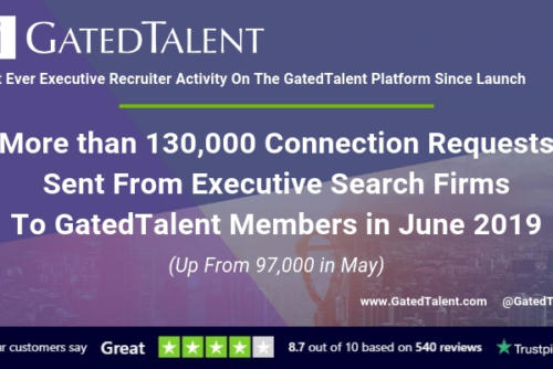 Over 130K Recruiter Connections Sent On GatedTalent In June!