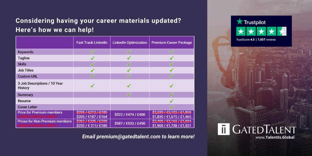 Your career material update options